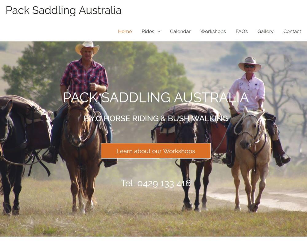 pack saddling australia